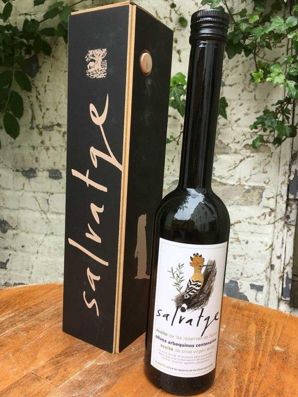 Salvatge Bio – Olivenöl, Natives Olivenöl extra aus Arbequina Oliven Geschenk Pack