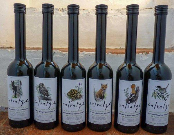 Salvatge Olivenöl in 0,5l Flasche