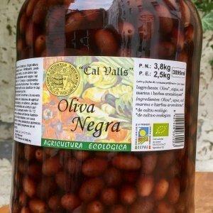schwarze Bio Oliven