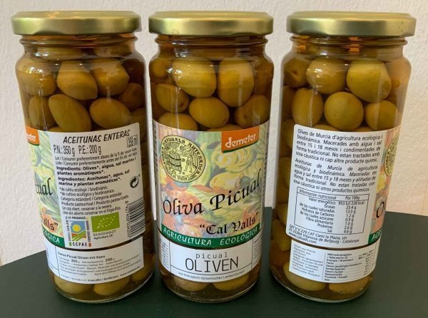 Bio Picual Oliven, Demeter zertifiziert