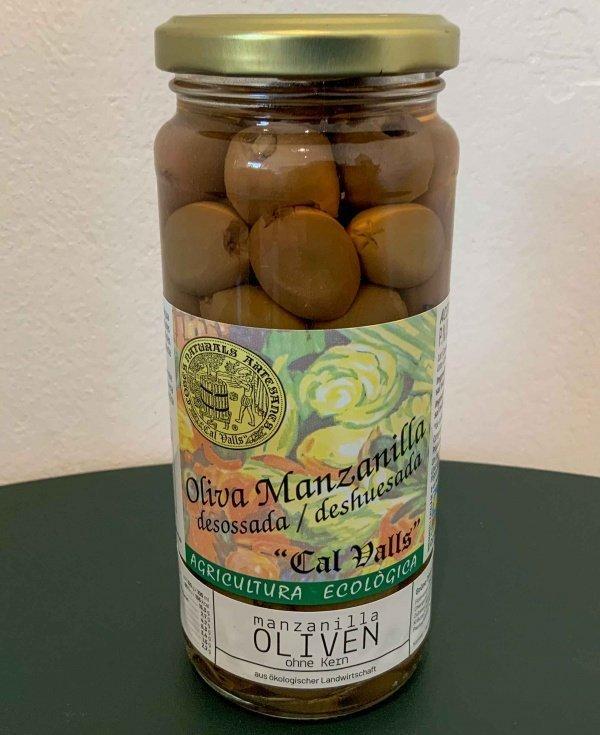 Manzanilla Bio Oliven ohne Kern