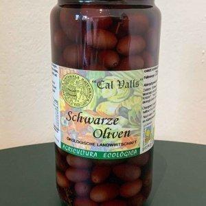 Schwarze Bio Oliven 420g im Glas
