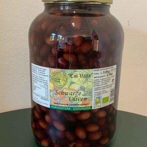 Schwarze Bio Oliven, 2500g im Glas