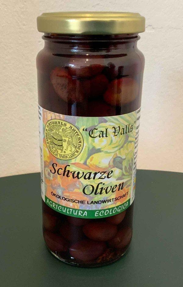 schwarze bio oliven 200g